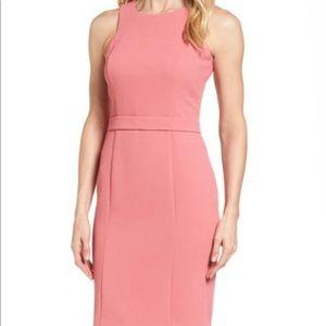 New Hugo Boss Dalanea Belted Sheath Dress